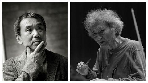 El escritor Haruki Murakami y el director de orquesta Seiji Ozawa