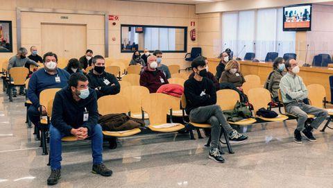 Todos los acusados juzgados en la Audiencia Nacional por la operación Jaro de la Guardia Civil.