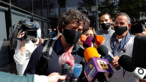 Nacho Palau, a la salida del juzgado.