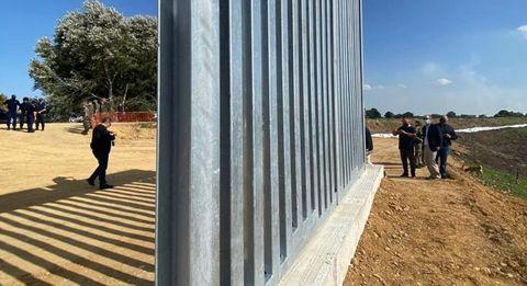 Imagen de las barreras instaladas en la frontera entre Grecia y Turquía