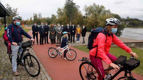 Presentación del proyecto de las bicicletas eléctricas que unirán Galicia y Portugal