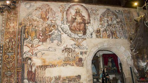 Pinturas murales renacentistas en la iglesia de origen románico de Nogueira de Miño (Chantada)