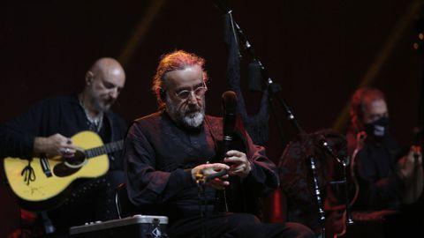 Bieito Romero, de Luar na Lubre, en concierto