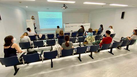 Estudiantes de sexto de Medicina en su inicio de prácticas en el Hospital Montecelo del CHOP el pasado mes de septiembre
