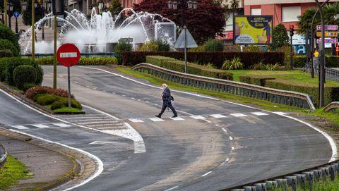 la entrada principal a la ciudad de Oviedo por la autopista A-66 durante el cierre perimetral