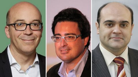 Oriol Soler, David Madí y Xavier Vendrell, en imágenes de archivo