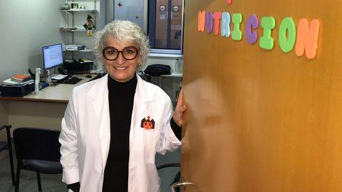 Ana Sánchez, enfermera de la escuela de alimentación saludable del materno de A Coruña