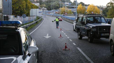 Control de acceso a la ciudad de Ourense, en una imagen de archivo