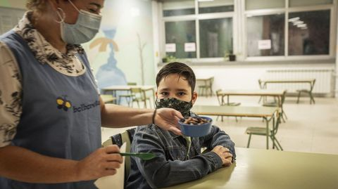 En Ribadavia el servicio de Familias Madrugadoras funciona en el colegio