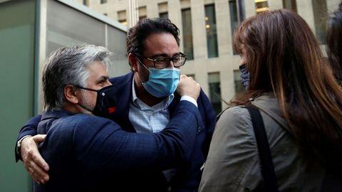 David Madí, el viernes, tras su puesta en libertad. El juez le atribuye tráfico de influencias para favorecer sus negocios.