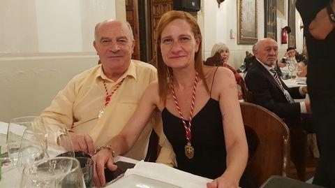 Vicente Quiroga y su hija, Fátima del Mar, son miembros de la Orden del Camino de Santiago