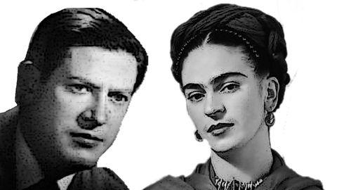 Alejandro Finisterre y Frida Kahlo