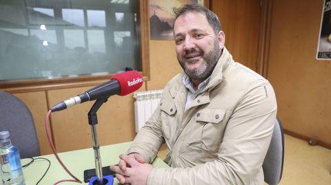 Garcia Carballido, en una visita a Radio Voz antes de la pandemia