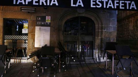 Bares cerradps en Pontevedra