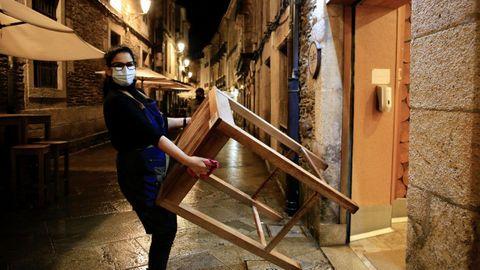 Cerrando los bares en Lugo