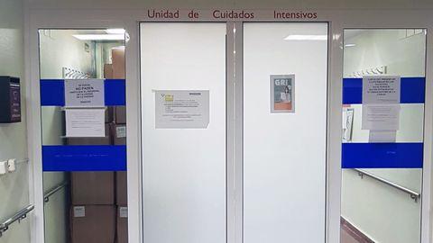 Entrada a unidades de cuidados intensivos en Cabueñes