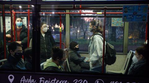 Autobús en A Coruña este miércoles