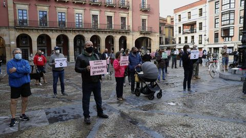 Concentración de hosteleros en Gijón