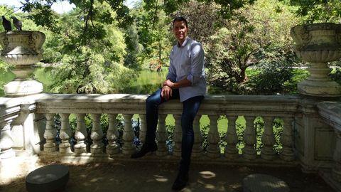 Ismael Santos, en el mes de septiembre, en el parque del Retiro, en Madrid