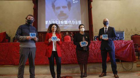Presentación del disco de Gaos en el Paraninfo de la Universidade de Santiago