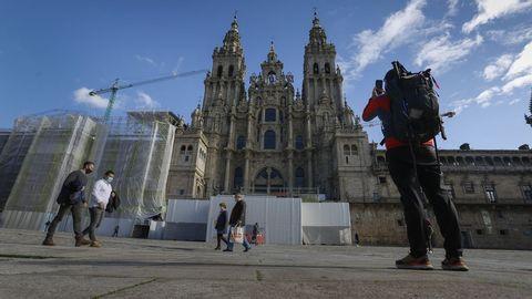 Entre los trabajos de preparacion para el año santo 2021 destaca la restauración integral de la fachada del Obradoiro