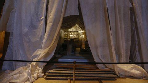 Rematar los trabajos en el interior de la basílica es una de las principales prioridades, junto con el entorno de la Puerta Santa
