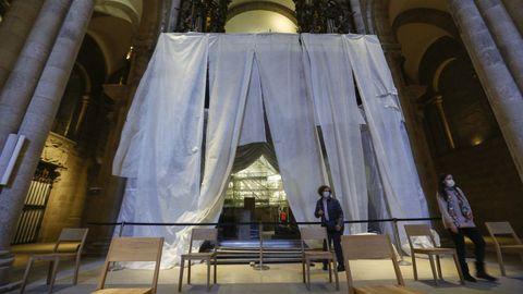 La restauración también incluye el conjunto de paramentos y bóvedas del interior de la basílica, así como otros elementos, como carpinterías o vidrieras