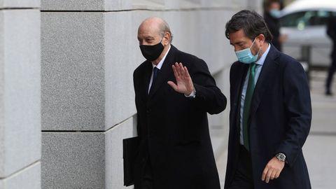 El exministro del Interior, Jorge Fernández Díaz llega a la Audiencia Nacional