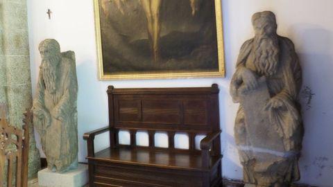 Las estatuas del maestro Mateo se encuentran en la capilla del pazo de Meirás