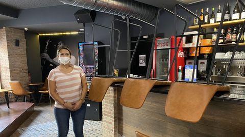 Naya Venzal, en el café teatro Bajo 5 de O Barco