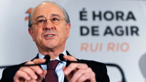 Rui Rio, líder del PSD portugués