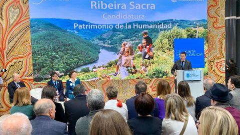 Presentación de la candidatura de Ribeira Sacra en la última edición de Fitur