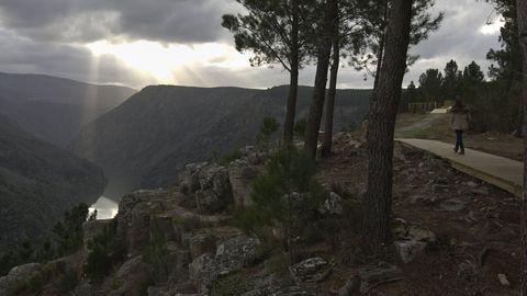 Una vista del cañón del Sil desde el mirador de Santiorxo, en el municipio de Sober