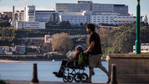 Vista del Hospital Universitario A Coruña (Chuac)