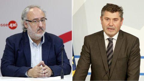 El socialista Guillermo Meijón (izquierda) y el popular Ovidio Rodeiro (derecha)
