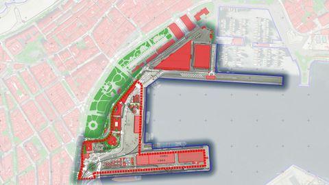 Imagen del estudio de la Zona 1, que engloba los muelles centrales de A Coruña