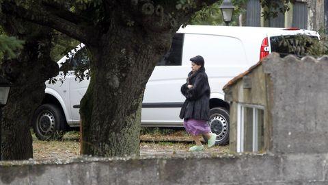 Rosario Porto, durante uno de los registros a la casa en la que se cometió el crimen