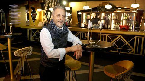 José Luis Asenjo en el Gatsby, uno de los cuatro locales que ha tenido que cerrar por la pandemia
