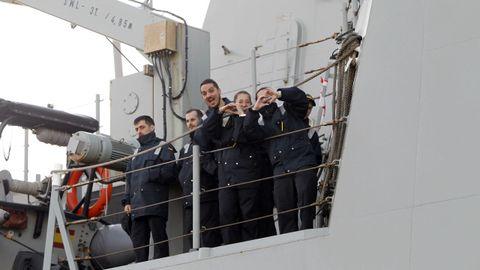 La fragata Álvaro de Bazán, en Ferrol