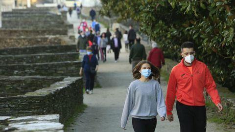 El adarve de la Muralla siempre es un buen lugar para pasear por Lugo