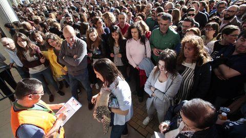 Sin aglomeraciones. Las nuevas medidas plantean distintos turnos y recintos para evitar grandes multitudes en Silleda