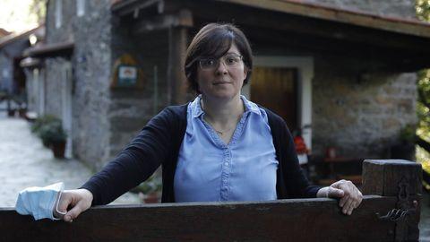 Rocío Gorís apunta que en noviembre solo se ocuparon dos habitaciones en su casa rural de Carral