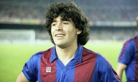 Maradona fue futbolista del Barcelona entre 1982 y 1984