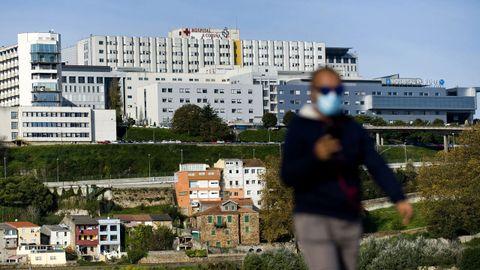 Vista del núcleo central del Chuac (Complexo Hospitalario Universitario A Coruña)