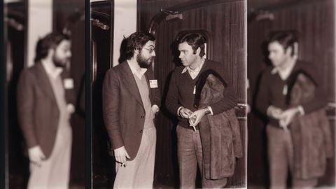 Moreda con Felipe González en febrero de 1977