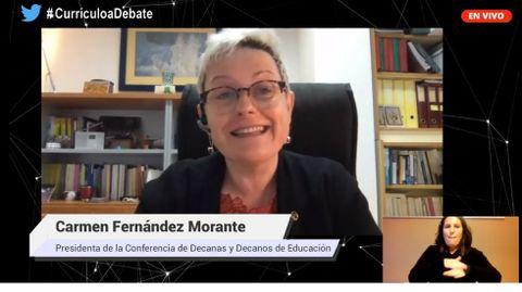 Carmen Fernández Morente, en el foro  El currículo, a debate