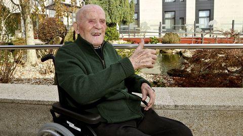 Constantino Freire,de 104 años, pasó el covid en una residencia de la tercera edad