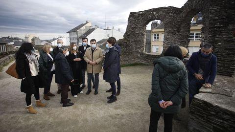 Visita del conselleiro de Cultura a la Muralla de Lugo