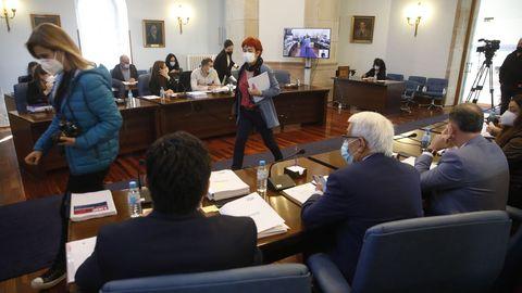 Pleno de la Diputación que acordó la liquidación de Suplusa