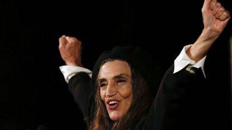 Ángela Molina recogerá el próximo 6 de marzo el Goya de honor 2021. En la imagen, tras recibir el Premio Nacional de Cinematografía, en San Sebastián, en el 2016